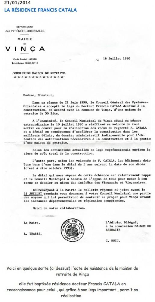 residence f catala decision conseil municipal